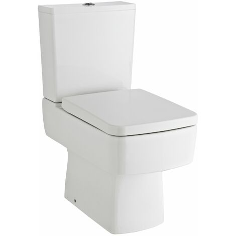 Nuie Bliss Close Coupled Toilet WC Push Button Cistern - Excluding Seat