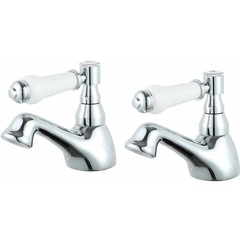 Nuie Bloomsbury Basin Taps Pair - Chrome