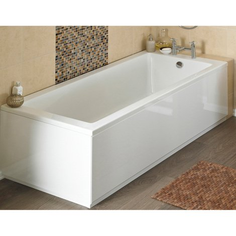 Nuie BPR103 | Modern Bathroom Front Bath Panel And Plinth, 1600mm x 580mm, Gloss White