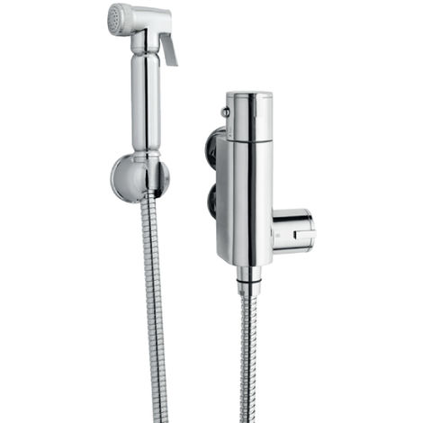 Nuie BW002 ǀ Modern Bathroom Toilet Accessories Douche Spray Kit with Thermostatic Valve , 25mm x 25mm, Chrome