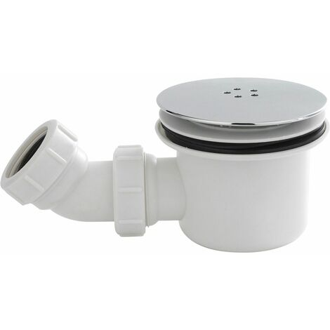 Nuie Chrome Round 90mm Fast Flow Shower Tray Waste Bathroom