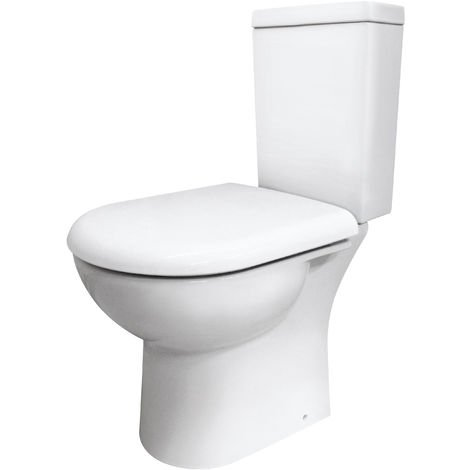 Nuie CKN003 Pick & Mix | Knedlington Semi Flush to Wall WC, White