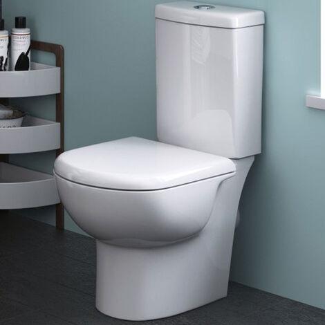 Nuie CKN003 Pick & Mix   Knedlington Semi Flush to Wall WC, White