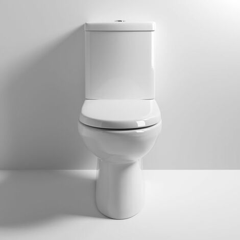 Nuie CLW001 Lawton   Compact Pan & Cistern, White