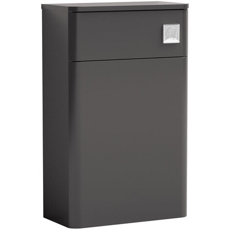 Nuie Core Back to Wall WC Toilet Unit 500mm Wide - Gloss Grey