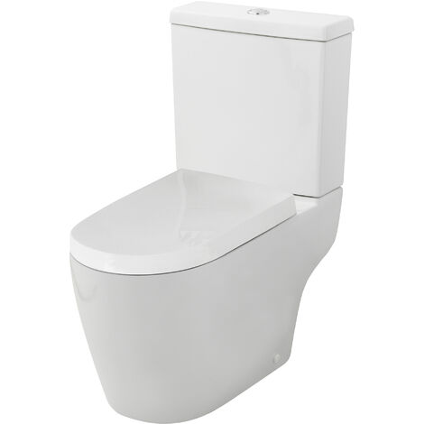 Nuie CPV005 Pick & Mix | Provost Semi Flush to Wall WC, White