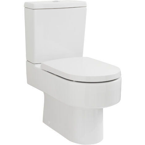 Nuie CPV006 Pick & Mix   Provost Semi Flush to Wall WC, White