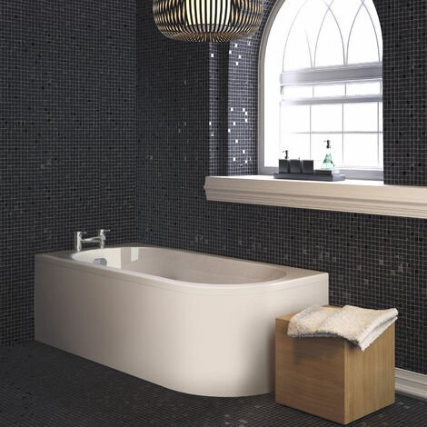 Nuie Crescent Back to Wall Single Ended Bath and Panel 1700mm x 725mm Left Handed
