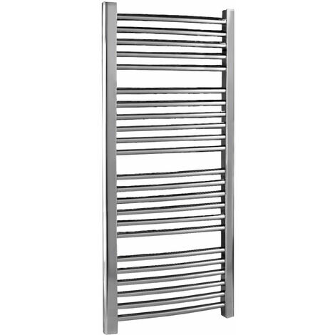 Nuie Curved Ladder Towel Rail 1100mm H x 500mm W - Chrome