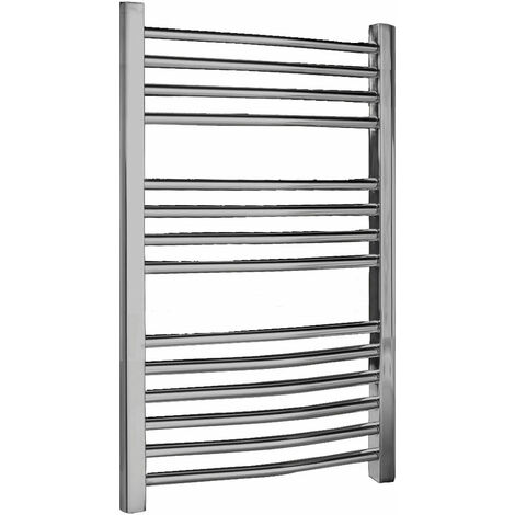 Nuie Curved Ladder Towel Rail 700mm H x 500mm W - Chrome