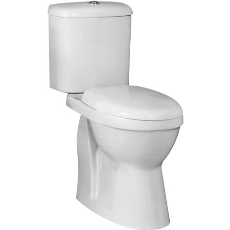 Nuie DOCMP100 Doc M Pack | Comfort Height Pan & Cistern, White