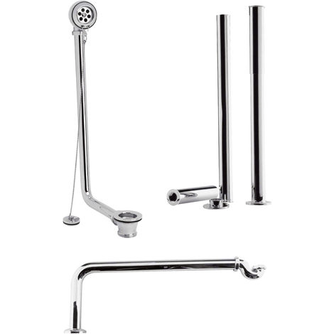 Nuie EA368 Accessories | Roll Top Bath Pack , Chrome