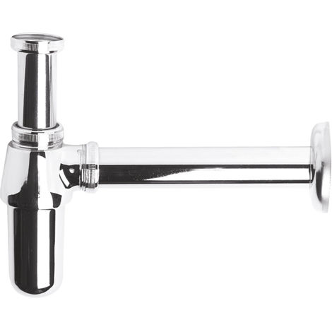 Nuie EA370 ǀ Modern Bathroom Basin Bottle Trap with 190mm Extension Tube, 263mm x 77mm, Chrome