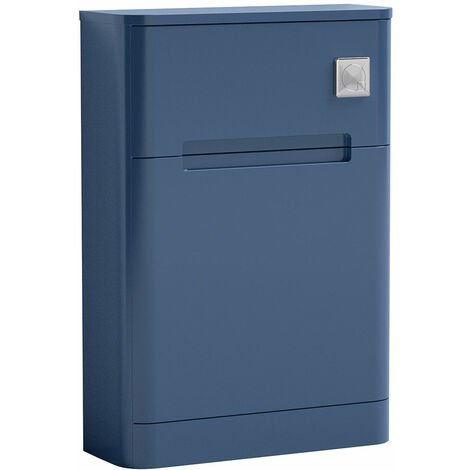 Nuie Elbe Back to Wall WC Unit 550mm Wide - Satin Blue