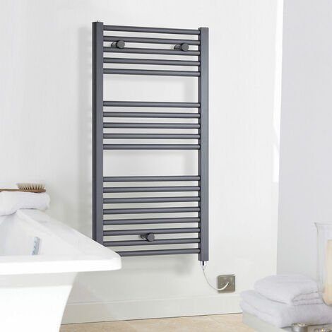 Nuie Electric Heated Towel Rail 720mm H x 400mm W Anthracite