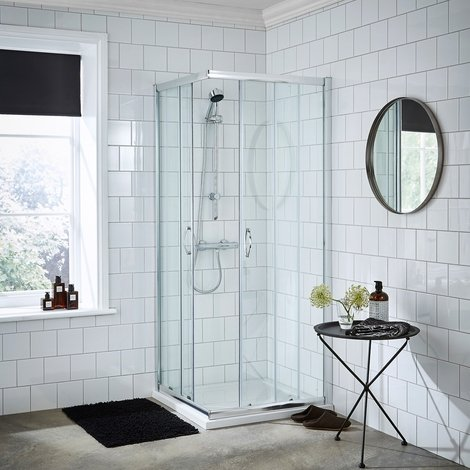 Nuie Ella 760mm Corner Entry Shower Enclosure - ERCE7676