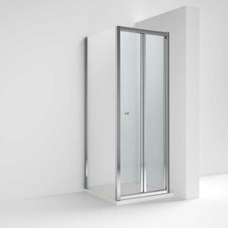 Nuie Ella Bi-Fold Shower Enclosure 760mm x 760mm Excluding Shower Tray - 5mm Glass