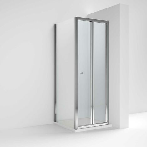 Nuie Ella Bi-Fold Shower Enclosure 800mm x 800mm with Shower Tray - 5mm Glass