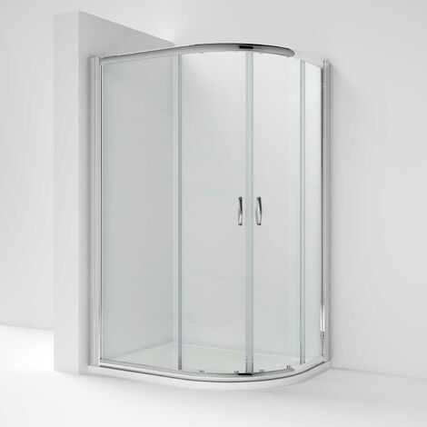 Nuie Ella Offset Quadrant Shower Enclosure 1200mm x 800 with Shower Tray RH 5mm