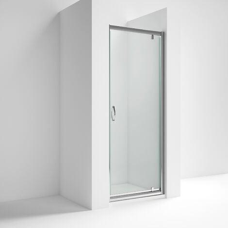 Nuie Ella Pivot Shower Door 700mm Wide - 5mm Glass
