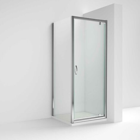 Nuie Ella Pivot Shower Enclosure 900mm x 900mm with Shower Tray - 5mm Glass