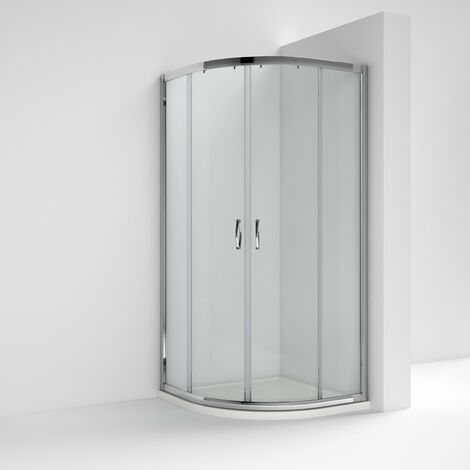 Nuie Ella Quadrant Shower Enclosure 900mm x 900mm with Shower Tray - 5mm Glass