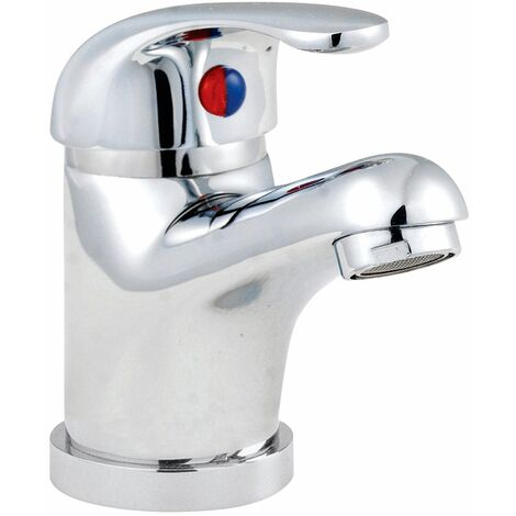 Nuie Eon Mono Basin Mixer Tap with Pop Up Waste - Chrome