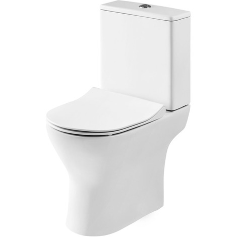 Nuie Freya Short Projection Toilet Pan with Cistern and Soft Close Toilet Seat - NCG350