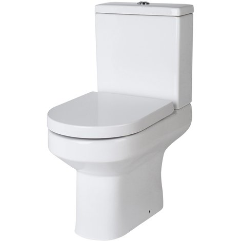 Nuie Harmony Semi Flush to Wall Toilet Pan and Cistern - CHM003