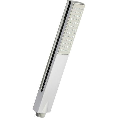 Nuie HO306 ǀ Modern Bathroom Rectangular Easy-Clean Shower Handset, 240mm x 38mm, Chrome