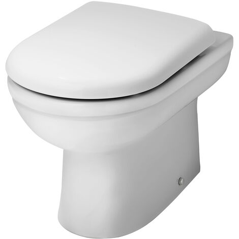 Nuie Ivo Back to Wall Toilet Pan 550mm Projection - Soft Close Seat