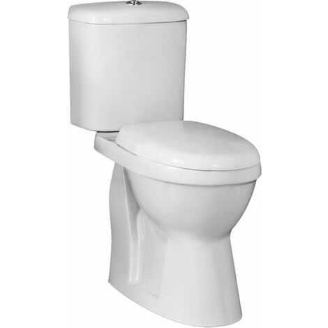 Nuie Ivo Comfort Close Coupled Toilet WC Push Button Cistern - Standard Seat