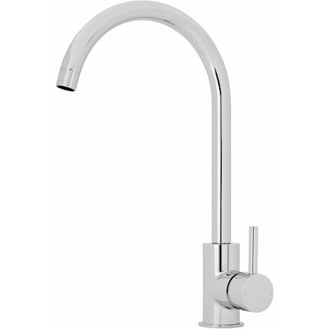 Nuie Kitchen Sink Mixer Tap Single Lever Handle - Chrome