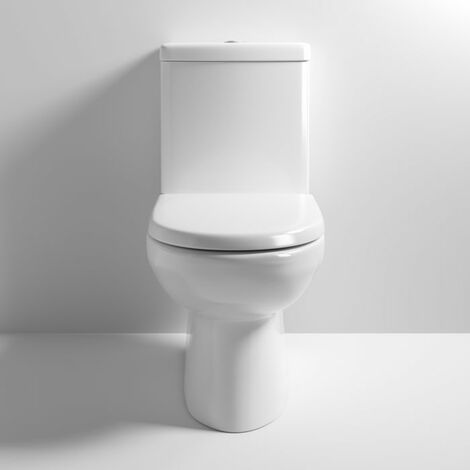 Nuie Lawton Close Coupled Toilet WC Push Button Cistern - Excluding Seat