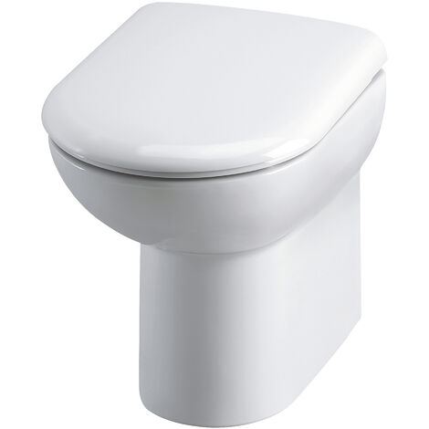 Nuie Lawton Comfort Height Back to Wall Toilet 545mm Projection - Excluding Seat