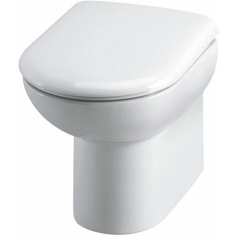 Nuie Lawton D-Shape Back to Wall Toilet 530mm Projection - Excluding Seat