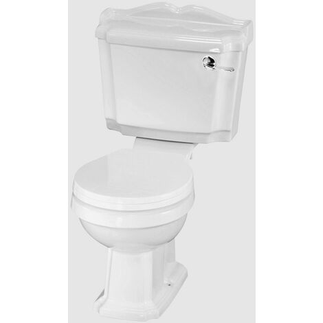 Nuie Legend Close Coupled Toilet Pan with Cistern and Toilet Seat - CLG003