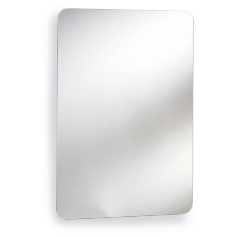 Nuie LQ302 Austin | Modern Bathroom Mirror Cabinet Qith Slider Door, 660mm x 460mm , Chrome