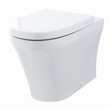 Nuie Marlow Back to Wall Toilet WC 555mm Projection - Excluding Seat