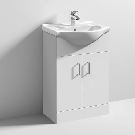 Nuie Mayford Bathroom Vanity Unit with Basin 550mm Wide - 1 Tap Hole