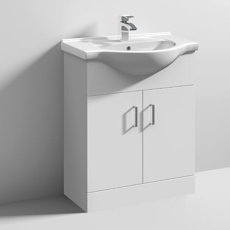 Nuie Mayford Bathroom Vanity Unit with Basin 650mm Wide - 1 Tap Hole