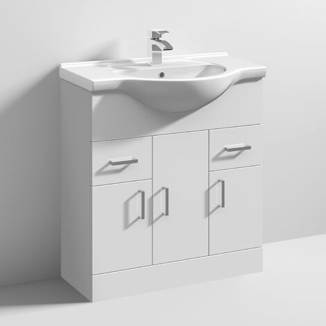 Nuie Mayford Bathroom Vanity Unit with Basin 750mm Wide - 1 Tap Hole