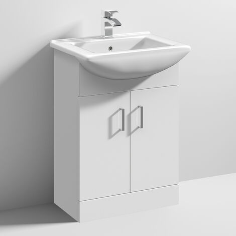 Nuie Mayford Floor Standing Vanity Unit with 550mm Wide Basin - 1 Tap Hole