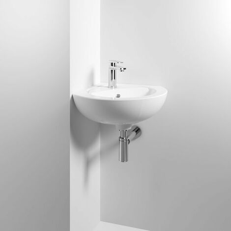 """main image of """"Nuie Melbourne Corner Wall Hung Basin 450mm Wide 1 Tap Hole"""""""