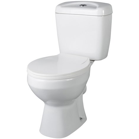 Nuie Melbourne Toilet Pan with Cistern and Toilet Seat - NCS150