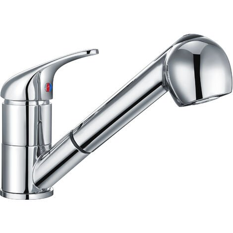 Nuie Mono Kitchen Sink Mixer Tap Pull Out Rinser - Chrome