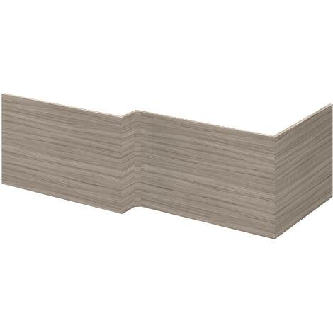 Nuie MPC131 Athena ǀ Modern Bathroom L Shaped Square MFC End Bath Panel, 700mm, Driftwood