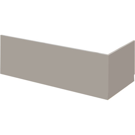 Nuie MPC405 Athena | Modern Bathroom Front Bath Panel, 1695mm, Stone Grey