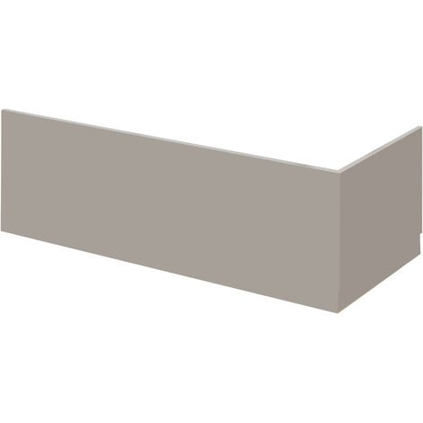 Nuie MPC407 Athena | Modern Bathroom Front Bath Panel, 1795mm, Stone Grey