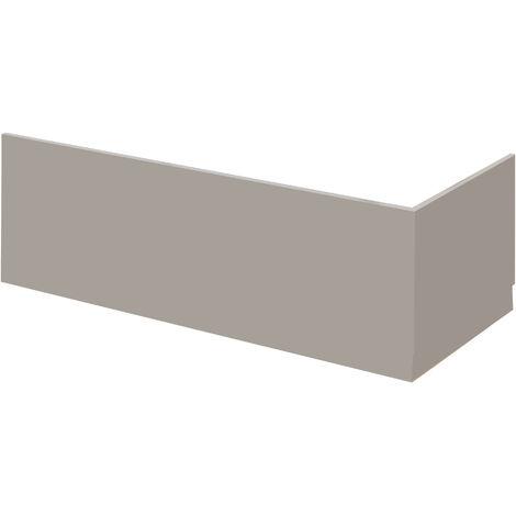 Nuie MPC411 Athena | Modern Bathroom End Bath Panel, 680mm, Stone Grey